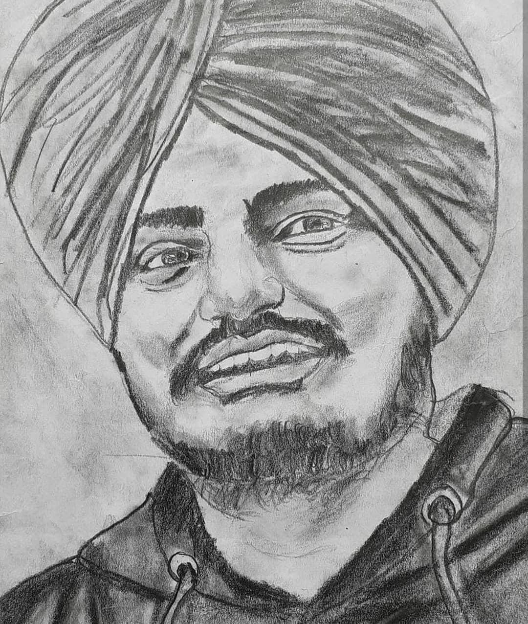 Sidhu Moose Wala Sketch Photo