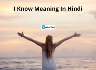 I Know Meaning In Hindi