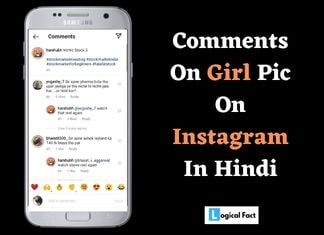Best comment for girl pic on instagram in hindi