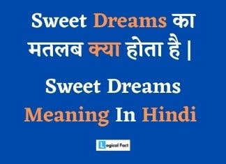 Sweet Dreams Meaning In Hindi